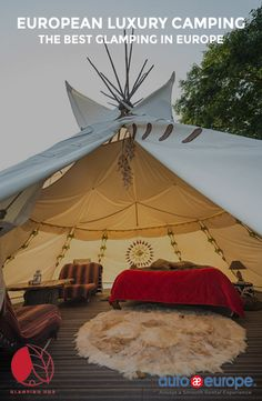 Glamping, luxury tourism in the heart of nature. Camping has reinvented itself and is now more desirable to ev. Bell Tent Camping, Camping Glamping, Luxury Camping, Luxury Travel, Backyard Camping, Camping Ideas, Camping Am Meer, Tenda Camping, Camping Con Glamour