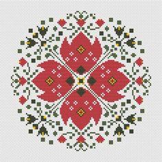Monogram Cross Stitch, Cross Stitch Cushion, Modern Cross Stitch Patterns, Cross Stitch Charts, Cross Stitch Kitchen, Bead Crochet Rope, Circular Pattern, Cross Stitching, Hand Embroidery Patterns