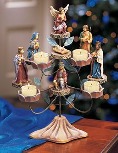 Nativity Scene Tealight Candle Holder, Collections, Etc.