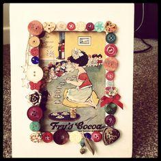 Button frame handmade craft