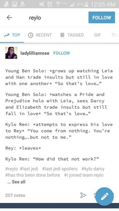 Reylo pride and prejudice