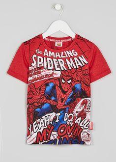 Kids Spiderman Print T-Shirt – Matalan 8894f816d613
