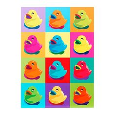 Once I saw this Warhol-style rubber ducks poster, there was no way we could not buy it. KNISTA Picture IKEA Motif created by Clara Wells. Picture Wall, Picture Frames, Photo Wall, Rubber Duck Bathroom, Baby Poster, Ikea Pictures, Painting Edges, Color Of The Year, Stretched Canvas Prints