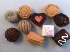 Felt Chocolate Assortment of Truffles Waldorf Inspired Play Food Wool Hand Sewn. $12,00, via Etsy.