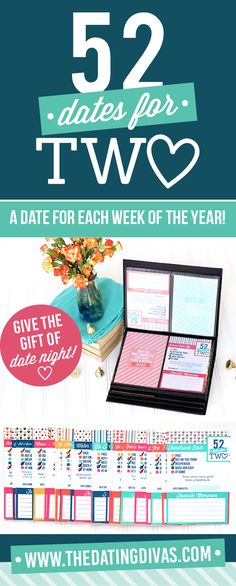 A WHOLE year of dates! What a great gift idea for an anniversary or wedding! Just put the printable date cards inside a photo album then when you go on the date, put a photo on the date next to it. When the year is over- you'll have a whole photo album full of your date memories. LOVE, LOVE, LOVE this!!!!