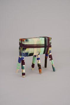 Anton Alvarez   The Thread Wrapping Machine Stool -2 031012 (2014)   Artsy