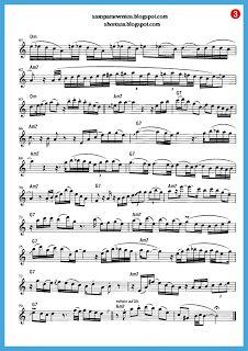 """Europa"" - Santana score and playalong (Sheet music free) - Free sheet music for sax Tenor Sax, Saxophone, Violin, Free Sheet Music, Scores, Flute, Alto Saxophone, Carlos Santana, Entertainment"