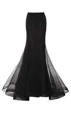 Embroidered Organza Skirt by Zac Posen