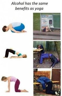 alcohol has the same benefits as yoga