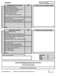 A printable invoice for use by the flooring installation industry ...