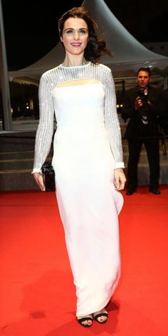 The Best of the 2015 Cannes Film Festival Red Carpet Rachel Weisz from Cannes Film Festival 2015, Cannes 2015, Louis Vuitton Clothing, Best Gowns, Coloured Girls, Palais Des Festivals, International Film Festival, Red Carpet Dresses, Red Carpet Fashion