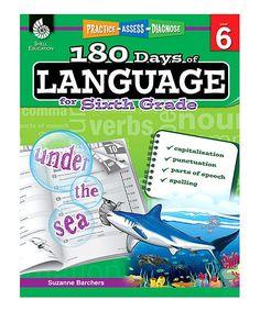 Grade 6 180 Days of Language Paperback