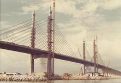 When Penang bridge was still building. Photo courtesy of Tony Lim.