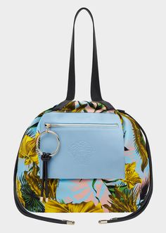 VERSACE Desert Palm Day Dreamer Tote Bag. #versace #bags #tote #leather #lining #shoulder bags #hand bags #cotton #