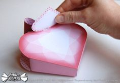 Valentine party favor gift boxes Printable paper by PapierBonbon