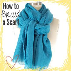 Although it looks complicated, this scarf style is easy to tie. Just double up the scarf and wrap it around your neck. Take one end and thread it through the loop, rotate the loop, and then thread through the other end.