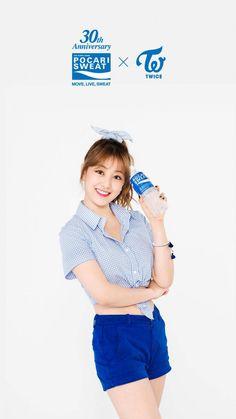 TWICE - Jihyo for Pocari Sweat 170405 Kpop Girl Groups, Korean Girl Groups, Kpop Girls, Most Beautiful Faces, Beautiful Asian Girls, Pocari Sweat, Jihyo Twice, Song Of The Year, Mnet Asian Music Awards