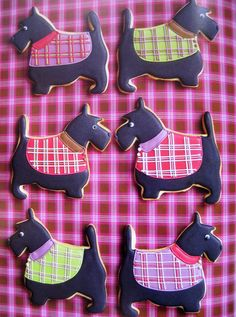 Scottie dog sugar cookies