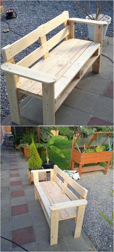 Motivational Wooden Pallets Repurposing Ideas: As we do start making the list of the awesome creations of the wood pallet ideas then wide range of designs and options will start roaming. Pallet Garden Furniture, Furniture Projects, Diy Furniture, Furniture Design, Pallet Ideas Easy, Diy Pallet Projects, Wood Projects, Wood Pallet Bar, Wooden Pallets