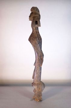 Nu in de #Catawiki veilingen: Old Tall African Tribal MUMUYE figure. Nigeria.