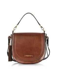Large Leather Messenger Bag W/tassels - Brown - The Bridge Shoulder bags Leather Shoulder Bag, Shoulder Strap, Shoulder Bags, Steampunk, Leather Bags Handmade, Weekend Wear, Casual Bags, Messenger Bag, Brown Leather