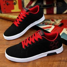 Mens Trainers Sports Lace-up Flat Running Shoes Athletic Walking Jogging Gym Sneakers Iekofo