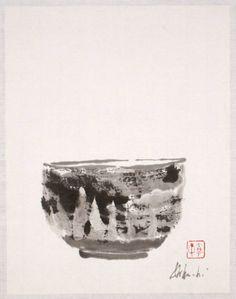 iamjapanese:  Louise Kikuchi(Japanese/American) Tea Bowl  2006 sumi on paper