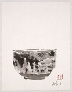 iamjapanese:  Louise Kikuchi(Japanese/American) Tea Bowl   2006 sumi on paper