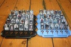 Leuk persoonlijk cadeau ideetje voor een huwelijk of een familiefeestje:   een 'Wie is het?' spel ombouwen met foto's van bes...