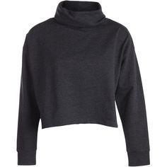 PIECES Long Sleeves Roll Neck Sweatshirt ($29) ❤ liked on Polyvore featuring tops, hoodies, sweatshirts, sweaters, long sleeves, jumpers, dark grey melange, long sleeve sweatshirt, long sleeve tops and loose tops