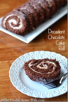 Decadent Chocolate Cake Roll - nutella!