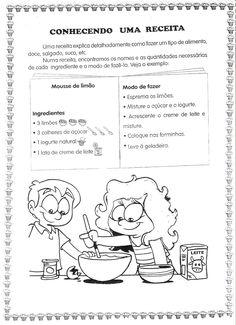 """Este projeto, foi trabalhado com alunos do 3º ano, onde confeccionamos um livro de receitas para exposiçõ do projeto""""Pequenos leitores,..."""