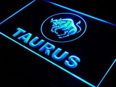 Taurus ZODIAC Astrology Window Neon Light Sign Aries Zodiac, My Zodiac Sign, Aries Ram, Neon Light Signs, Neon Signs, Health Horoscope, Custom Neon, Astrology Predictions, Spanish Quotes