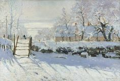 """The Magpie"" ""La Pie"" (Winter 1868 -1869) By Claude Monet, from Paris (1840-1926) Place of creation: near the commune of Étretat in Normandy, France"