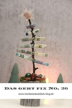 This is fix No. 26 - Oh Christmas tree money gift for Christmas . - This is fix No. 26 – Oh Christmas tree money gift for Christmas Christmas money g - Silver Christmas Tree, Christmas Tree With Gifts, Christmas Diy, Christmas Cover, Christmas Wrapping, Homemade Christmas, Christmas Ornaments, Diy Gifts For Him, Easy Diy Gifts