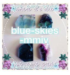 """""""{icon • blue-skies-mmiv}"""" by kk-purpleprincess ❤ liked on Polyvore featuring art and kkspurpleicons"""