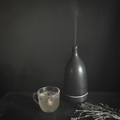 Experimenting with room fragrance and mood with my new diffuser. #bluelotus #newritual