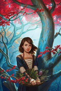 Arya en el bosque de dioses