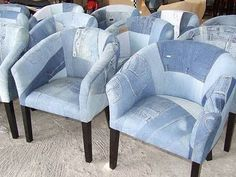 Reupholster using old jeans