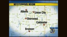 """Mysterious """"Loud Booms"""" shake Up Union City Michigan 