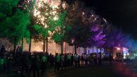 عکس های وحشتناک از آتش سوزی گسترده در پارک توحید  عکس