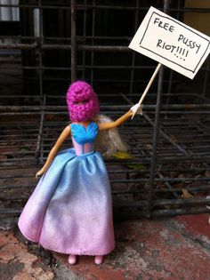 Barbie supports Pussy Riot #FreePussyRiot