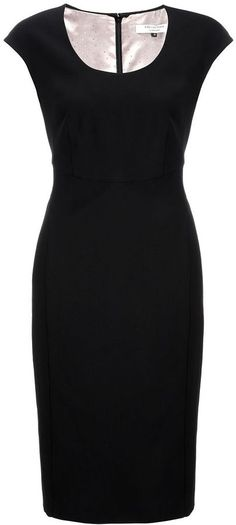 COLLECTION by John Lewis Panel Shift Dress, Black. Every woman needs a plain black dress to go crazy with accessories--I could wear this every week and make a different outfit each time! :-D