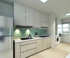 hdb open concept kitchen - Google Search