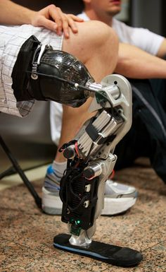 The Future is Here: Printed Prosthetics Prosthetic Leg, Information And Communications Technology, Robot Design, Mechanical Design, Ghost In The Shell, Wearable Technology, Science, Sci Fi, Cyberpunk