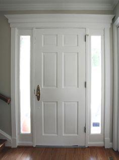 trim work above interior doors | Del Pizzo Construction, LLC - Trim work above and around existing door