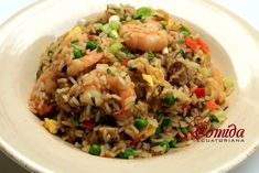 Receta del chaulafan mixto ecuatoriano Vegetarian Recipes, Cooking Recipes, Healthy Recipes, Cooking Ideas, Simple Recipes, Classic Apple Pie Recipe, Asian Rice, Arroz Frito, Latin Food