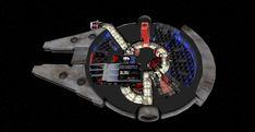 Faça um passeio virtual pela Millennium Falcon de Star Wars nesse modelo 3D
