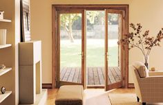 Bring the outdoors in with Swinging French Doors from Integirty. These beautiful, highly-durable doors feature the same Ultrex fiberglass exterior as Infinity products and are available with either a pre-finished white or Bare Pine interior.