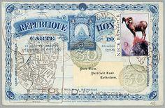 Mail Faux original.  Francis Palm  environ 375 x 55  par BANTOCKart, $200.00